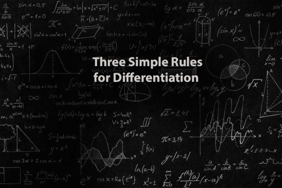 Mathematics 1 | Three Simple Rules for Differentiation