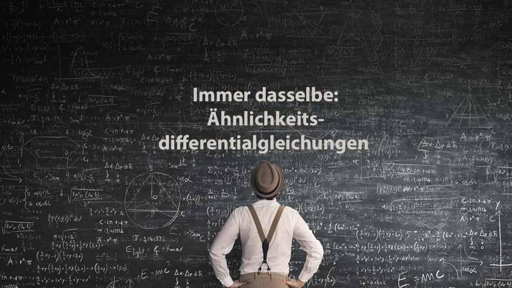 Mathematik 2 | Immer dasselbe: Ähnlichkeitsdifferentialgleichungen