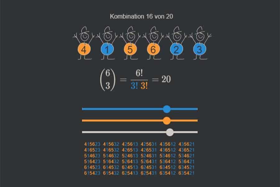 Interaktiv: Binomialkoeffizienten erklärt