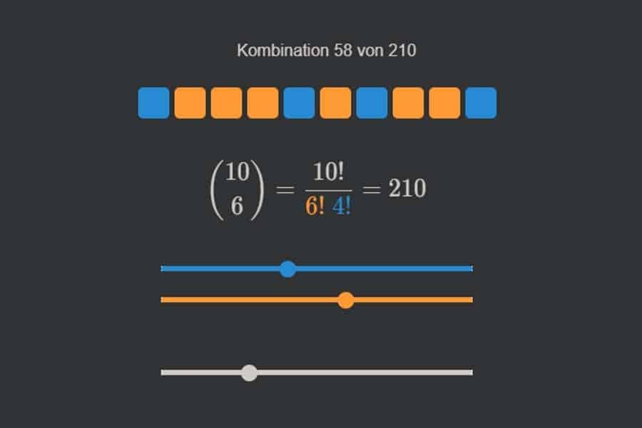 Interaktiv: Binomialkoeffizienten