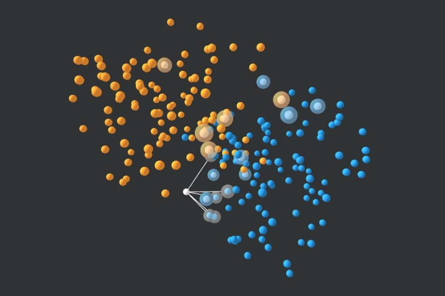 Interaktiv: Der K-Nearest-Neighbours-Algorithmus