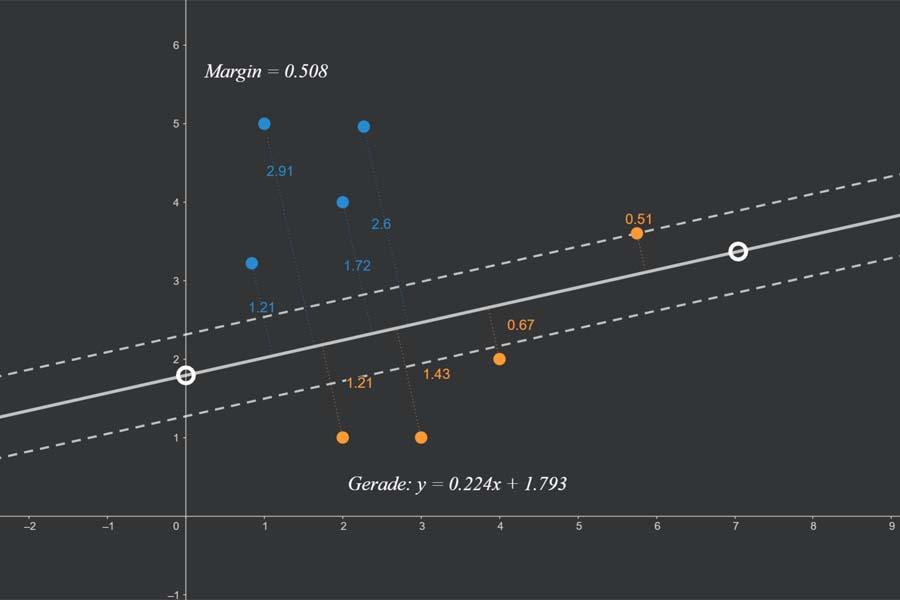 Interaktiv: Maximal Margin Classifier
